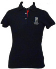 England Cricket Women's Polo Shirt -Navy