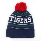 Leicester Tigers Bobble Beanie Hat - Navy/Green/Red
